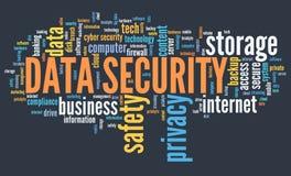 Nuage de mot de sécurité de données Illustration de Vecteur