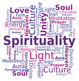 Nuage de mot - spiritualité Images libres de droits
