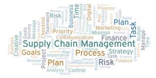 Nuage de mot de supply chain management, fait avec le texte seulement illustration de vecteur