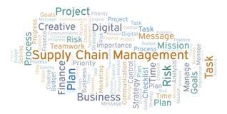 Nuage de mot de supply chain management, fait avec le texte seulement illustration libre de droits