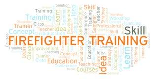 Nuage de mot de Training de sapeur-pompier illustration stock