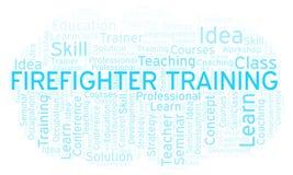 Nuage de mot de Training de sapeur-pompier illustration libre de droits