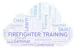 Nuage de mot de Training de sapeur-pompier illustration de vecteur