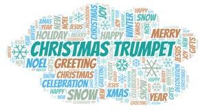 Nuage de mot de trompette de Noël illustration stock