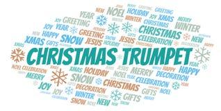 Nuage de mot de trompette de Noël illustration de vecteur
