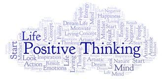 Nuage de pensée positif de mot, fait avec le texte seulement illustration stock