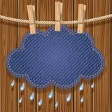 Nuage de pluie sur une corde à linge Photo stock