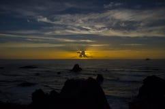 Nuage de rayon de soleil Photos libres de droits