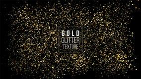 Nuage de scintillement d'or ou texture brillante d'explosion de particules Effet d'or de luxe d'étincelles Fond d'obscurité de ve illustration libre de droits