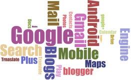 Nuage de tags de Google Image stock