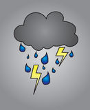 Nuage de tempête illustration stock