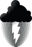 Nuage de tempête avec la foudre Photos libres de droits