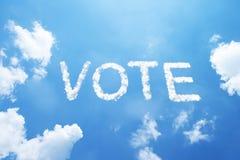 Nuage de VOTE Photos libres de droits