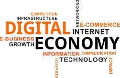 Nuage de Word - économie numérique Photos stock