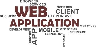 Nuage de Word - application Web Photo stock