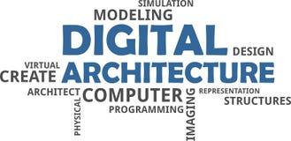 Nuage de Word - architecture numérique Images libres de droits