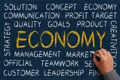 Nuage de Word d'économie photo stock