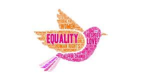 Nuage de Word d'égalité illustration libre de droits