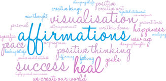 Nuage de Word d'affirmations Illustration de Vecteur