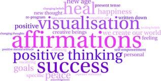 Nuage de Word d'affirmations Image stock
