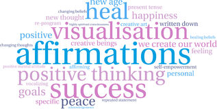 Nuage de Word d'affirmations Illustration Libre de Droits