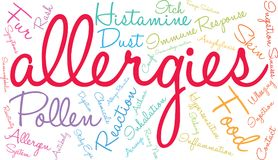 Nuage de Word d'allergies Image libre de droits