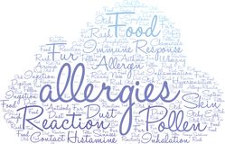 Nuage de Word d'allergies Images stock