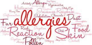 Nuage de Word d'allergies Image stock
