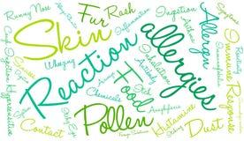Nuage de Word d'allergies Photos libres de droits
