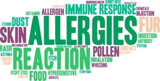 Nuage de Word d'allergies Photo stock