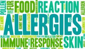 Nuage de Word d'allergies Photographie stock libre de droits