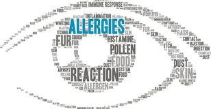 Nuage de Word d'allergies Photographie stock libre de droits