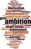 Nuage de Word d'ambition illustration stock