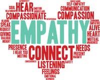 Nuage de Word d'empathie Photo libre de droits