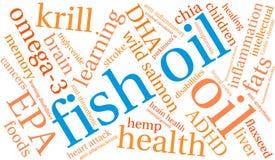 Nuage de Word d'huile de poisson illustration libre de droits
