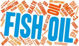 Nuage de Word d'huile de poisson illustration de vecteur
