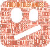 Nuage de Word d'intolérances de nourriture Image libre de droits