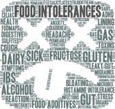Nuage de Word d'intolérances de nourriture Photo libre de droits