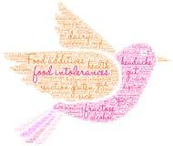 Nuage de Word d'intolérances de nourriture Image stock