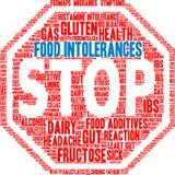 Nuage de Word d'intolérances de nourriture Images libres de droits