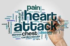 Nuage de Word de crise cardiaque Photo libre de droits