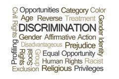 Nuage de Word de discrimination Images libres de droits