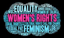 Nuage de Word de droits de la femme Images libres de droits
