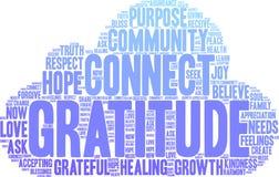 Nuage de Word de gratitude Images libres de droits