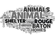 Nuage de Word de refuge pour animaux de Baton Rouge Photo libre de droits