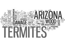 Nuage de Word de termites de l'Arizona illustration libre de droits