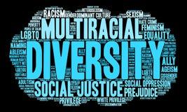 Nuage de Word de diversité Photo stock