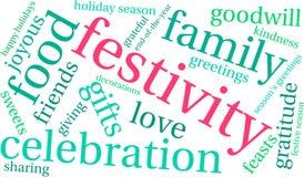 Nuage de Word de festivité illustration de vecteur