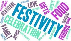Nuage de Word de festivité illustration libre de droits