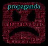 Nuage de Word de propagande Photos stock